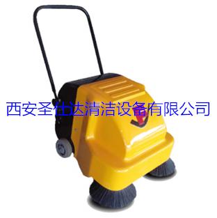 双刷手推式吸尘扫地车